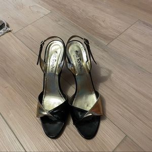 Holt Renfrew Italian leather heels size 8
